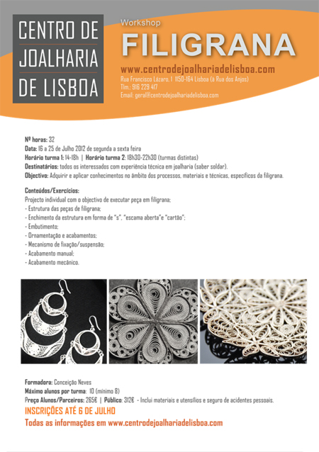 Workshop de Filigrana